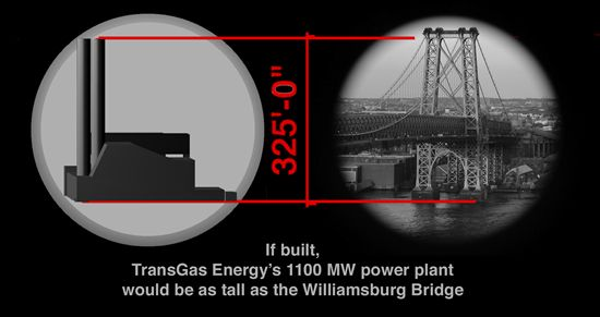 williamsburg bridge vs proposed tge plant